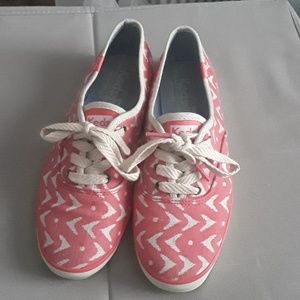 Pink and beige Keds canvas shoes